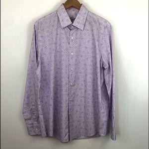 Tasso Elba purple paisley button up